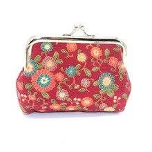 Женский кошелек в стиле ретро, винтажный маленький кошелек в виде цветка, кошелек на застежке, клатч, милая переносная Сумочка для ключей, портмоне, Сумочка# T2