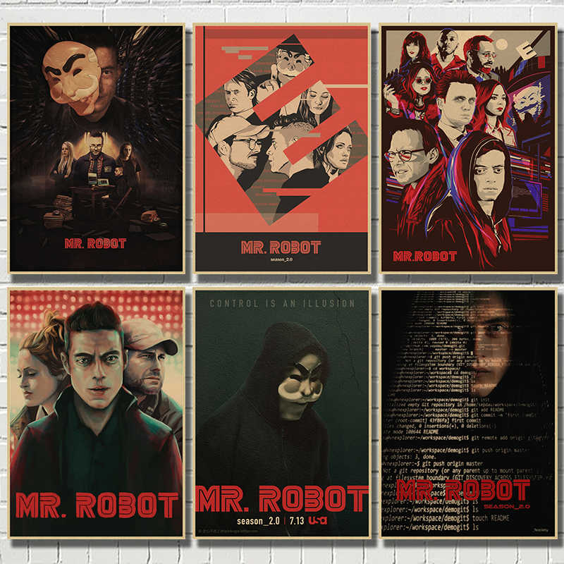 Mr Robot TV Show Rami Malek Large Wall Art Poster Print