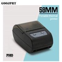 Impressora térmica da etiqueta da etiqueta da impressora do código de barras de bluetooth 2 polegadas mini para android ios|barcode printer|receipt printer|thermal barcode printer -