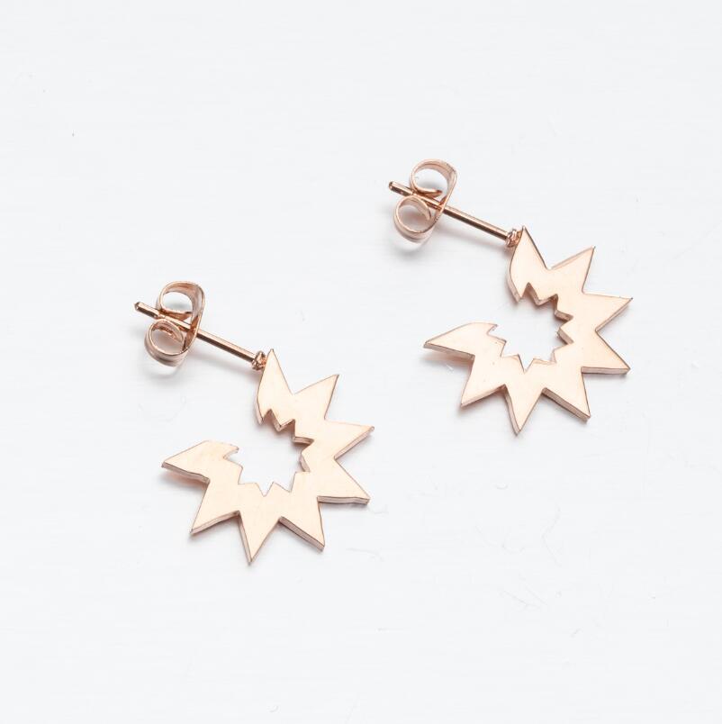 SMJEL Stainless Steel Geometric Earrings for Women Girls Minimalist Jewelry Heart Bird Ghost Umbrella Cat Volleyball Earing Stud
