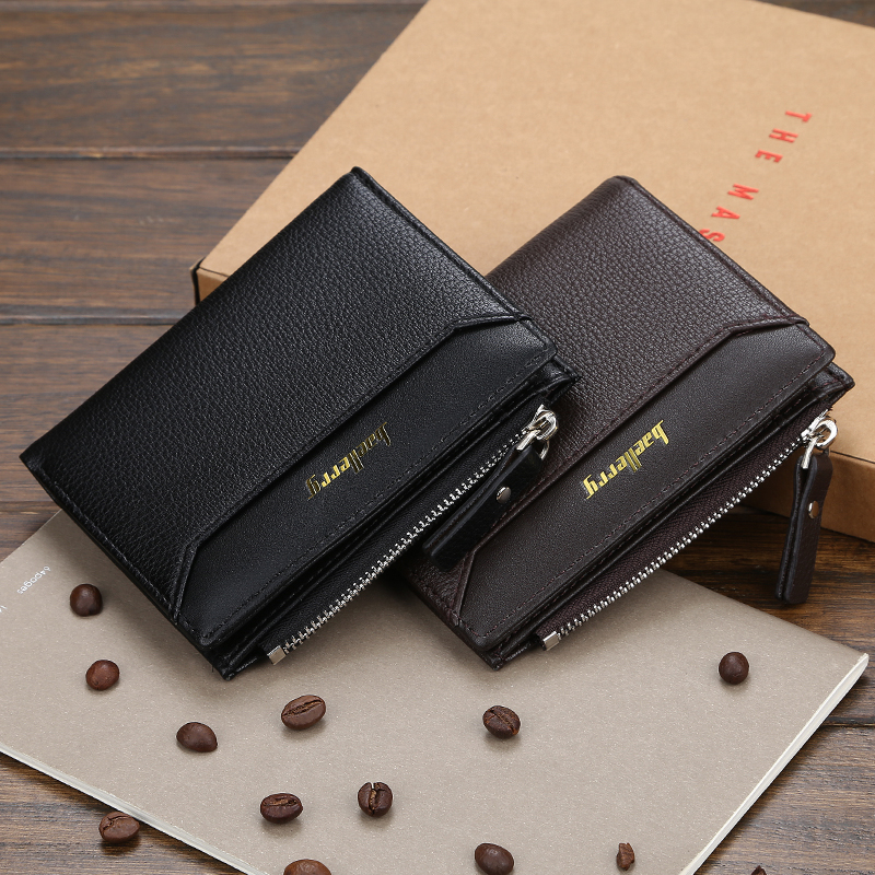 Casual Men's Wallet 2020 New Men Coin Bag High Quality PU Small Wallets Zipper Short Card Holder Clutch Bag Wallet Men