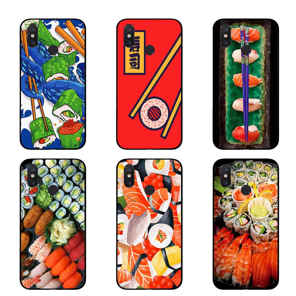 Anime Lucu Kawaii Jepang Sushi TPU untuk Xiaomi Redmi Go 4 5 6 7 Pro 4A 4X 5A 5Plus 6A Penutup Belakang