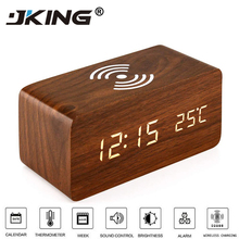 10W Fast Wireless Charger 3 In 1 Multi-function Alarm Clock/ Night Light Mobile Phone Holder Smartphone Charging Dock Station