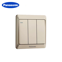 Panasonic EU/UK Standard Light Switch 86 Type 1/2/3/4 Gang 1/2/multi Way Light Switch Gold Switches Push Button Switch chint lighting switches 118 type switch panel new5d steel frame four position six gang two way switch panel