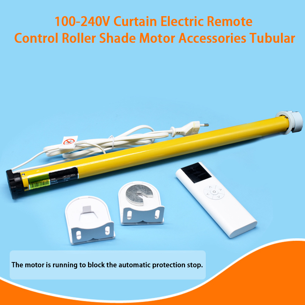 100-240V Tubular Electric Visor Soft Industrial Remote Control Accessories Roller Shade Motor Curtain Easy Install Office Home