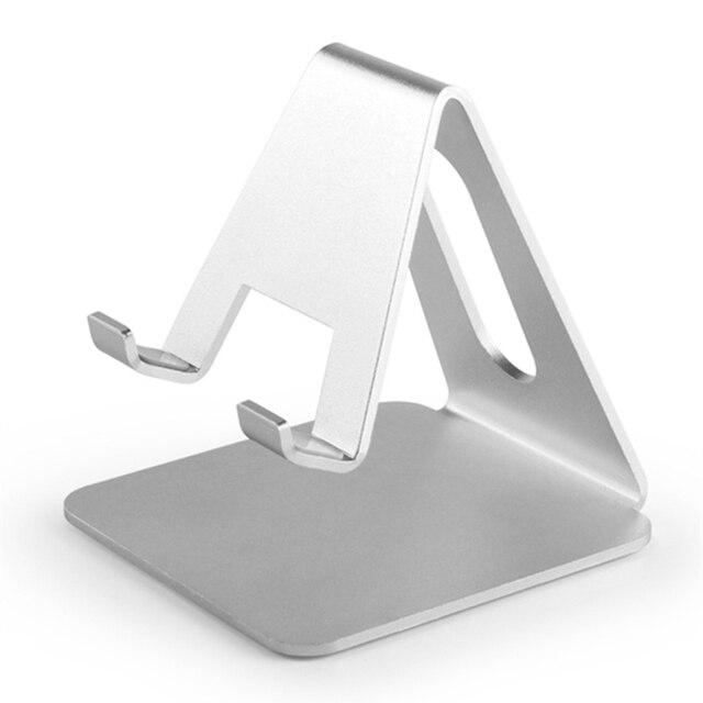 Suporte universal de alumínio para celular, suporte para tablet, liga de alumínio, para iphone x/8/7/6/5 mais samsung telefone/ipad 1