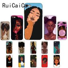 Ruicaica Queen Afro Melanin Poppin black girl Black Silicone Phone Case Cover for iPhone 5 5Sx 6 7 7plus 8 8Plus X XS MAX XR 10 babaite queen afro melanin poppin black girl phone cover for iphone x xs xr xsmax 7 7plus 8 8plus 6 6s 5 5s se 11 11pro 11promax