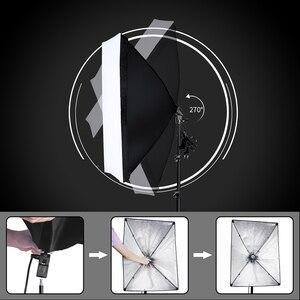Image 3 - Fotografia softbox kit de iluminação com 2.6x3m suporte de fundo 3 pçs foto backdrops tripé guarda chuva para estúdio foto