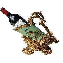 Стеллаж для вина из смолы и керамики внутреннее украшение дома