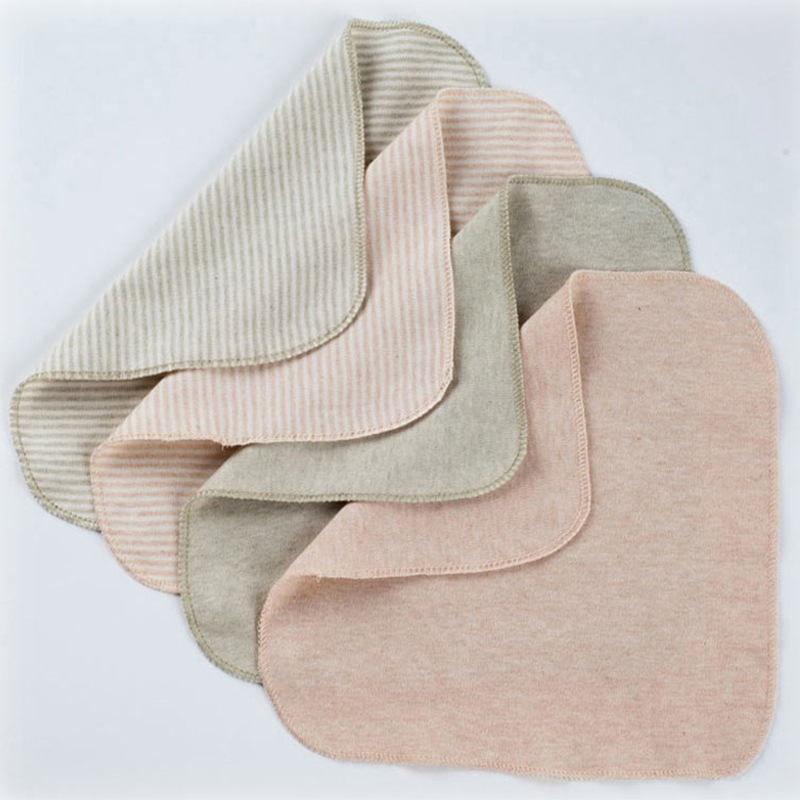 1Pc Baby Cotton S/L Square Towel Bath Wash Handkerchief High Quality Newborn Saliva Wrinkle Towels Muslin Infant Face Wipe Cloth