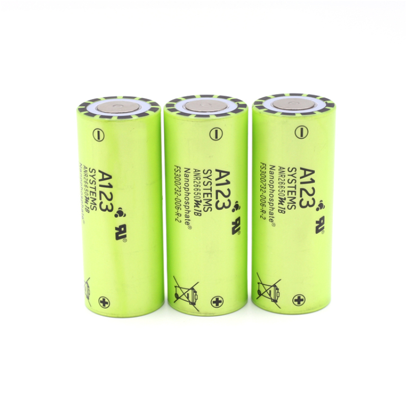 4pcs Manufacture For USA A123 26650 Battery ANR26650M1B 3.2V 2500mah 30C 70A Rechargeable Lithium Iron Phosphate Power Batteries