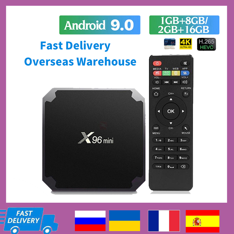 X96 mini Android 9 0 TV Box Amlogic S905W 2 4Ghz Wifi 4K media player Google Play 2GB 16GB X96mini 1080P Youtube Smart TV Box