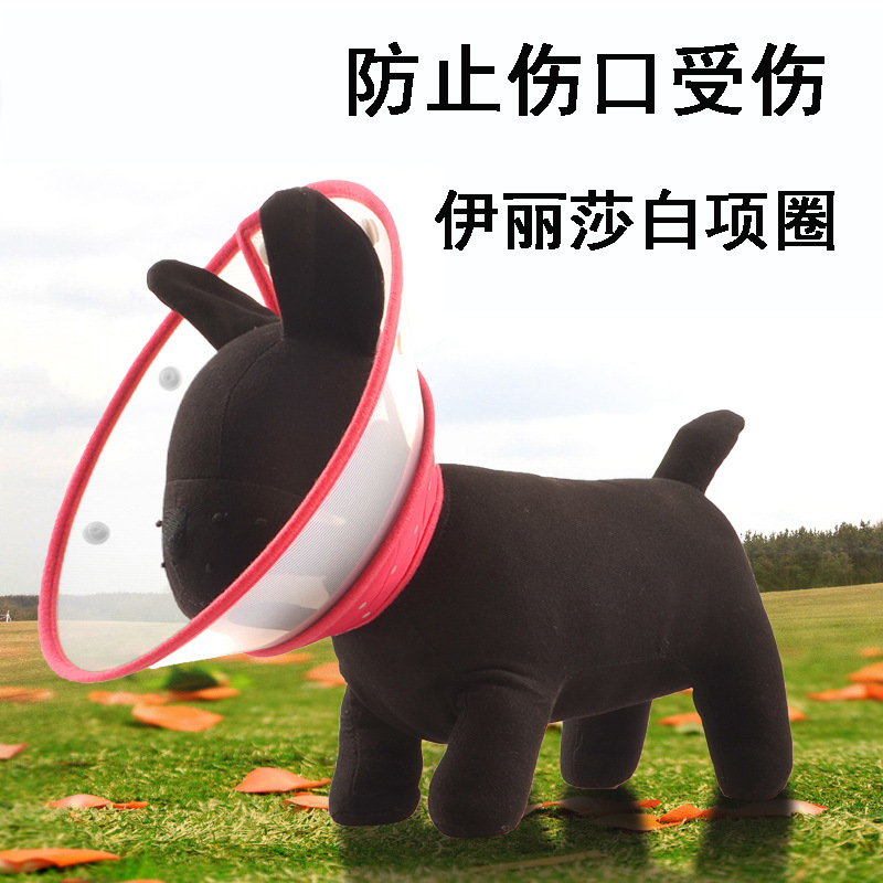Color Pet Elizabeth Neck Ring Dog Anti-Bite Anti Grasping Collar Supplies