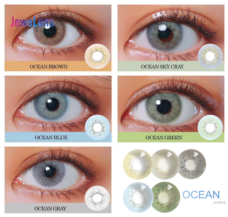 Jewelens Colored Contact Lenses Color Lens For Eyes Colorful Cosmetic Con Soft Ocean Series