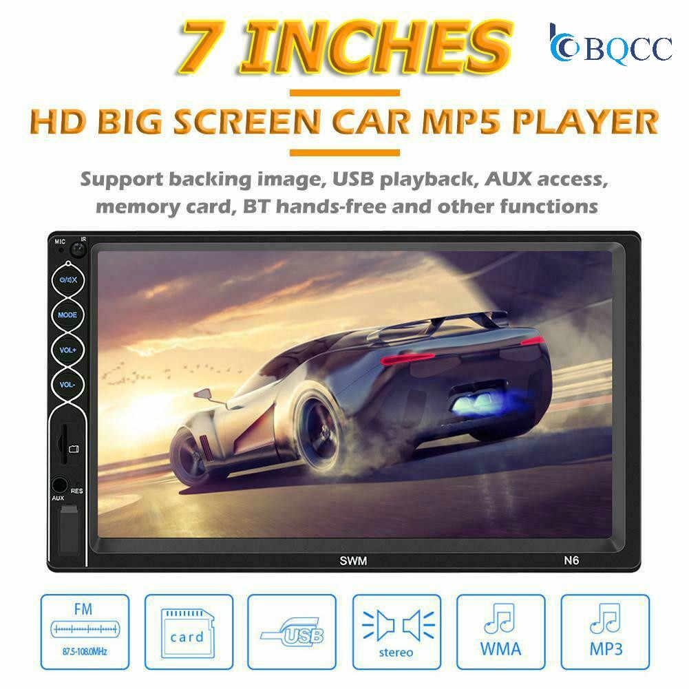 SWM N6 ダブル 2 喧騒車のステレオ MP5 プレーヤー 7 インチのタッチスクリーンの bluetooth USB AUX ラジオ受信機ダッシュヘッドユニット + カメラ