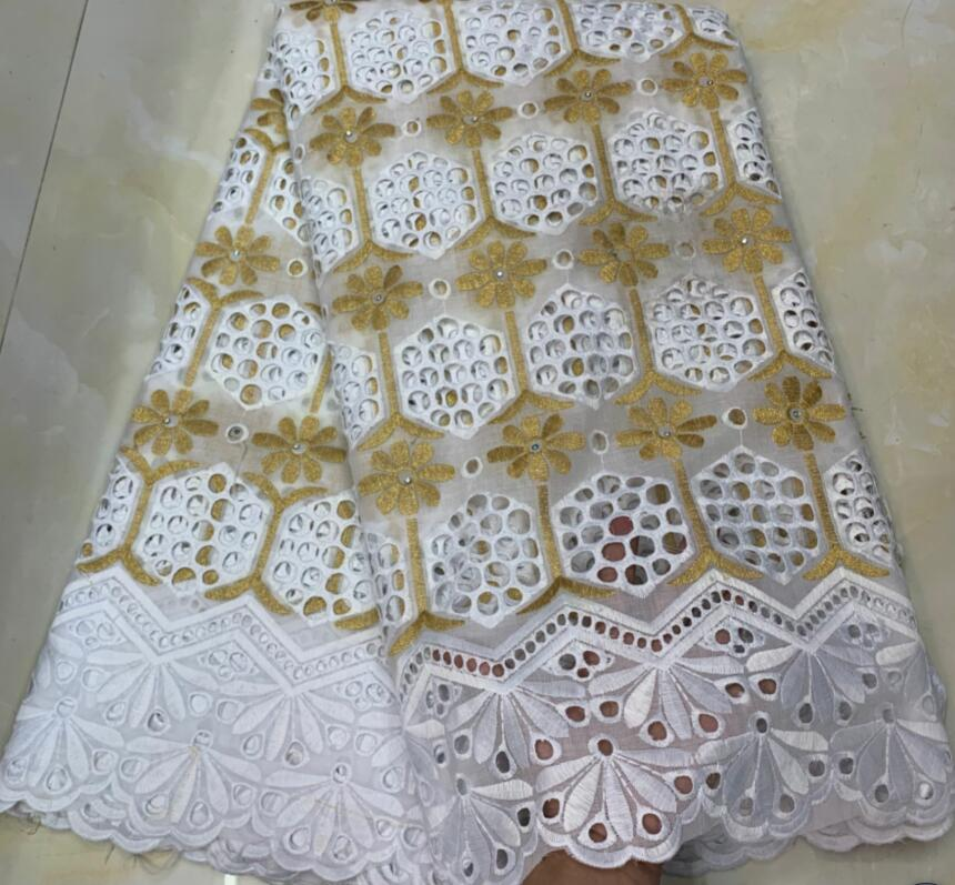 2019 New Design 100%Cotton lace swiss voile lace in switzerland 