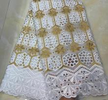 2019 nowy projekt 100% bawełna koronki szwajcarski koronkowy woal w szwajcarii nigeryjczyk koronki tkaniny afrykańska suknia ślubna materiał HSH055