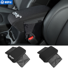 MOPAI Armrests for Jeep Cherokee 2014+ Car Front Seat Armrest Box Pad Cover Storage Bag Accessories