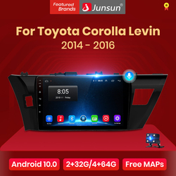 Junsun V1 pro 2G+128G Android 10 For Toyota Corolla Levin 2014 - 2016 Car Radio Multimedia Video Player Navigation GPS 2 din dvd