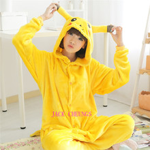 Kigurumi Pikachu onesies Pajamas Cartoon Animal cosplay Pyjamas Adult Onesies  costume  party dress  Halloween pijamas kigurumi leopard animal onesies pajamas cartoon costume cosplay pyjamas adult onesies party dress halloween pijamas