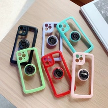 For Apple iphone 12 11 Pro Max mini Cover Ring Case Stand Holder Magnetic Anti-fall For iphone XS Max XR X Soft Silicone Case