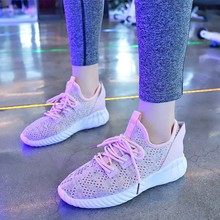 Hot Sale Summer Sneakers For Women Breathable Mesh Shoes Casual Pink Sneakers Vulcanized Shoes Brand Fashion Shoes  D0009 korean style women fashion leather sneakers pink 2018 new ins hot sale breathable casual shoes 6cm