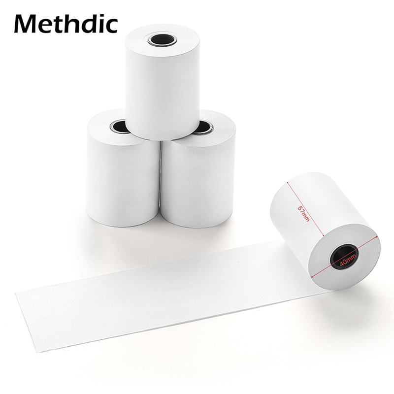 Methdic 5rolls 57x40mm Thermal Paper Manufacturers For Pos Credit Card