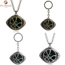 Movie Doctor Strange Eye of Agamotto Necklace Eye of Agamotto Crystal Luminous stone Pendant the Avengers Jewelry
