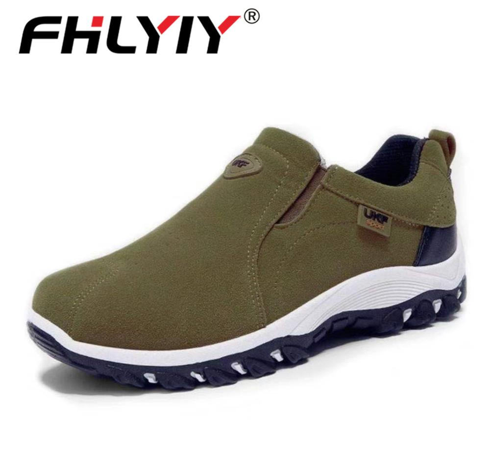 Fhlyiy 2020 Spring Summer Outdoor Loafers Sneakers For Men Shoes Breathable Suede Male Footwear Walking Comfortable Slip-On