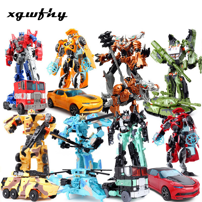 Top Sale 19cm Model Transformation Robot Car Action Toys Plastic Toys Action Figure Toys BEST Gift For Education Children Jm298