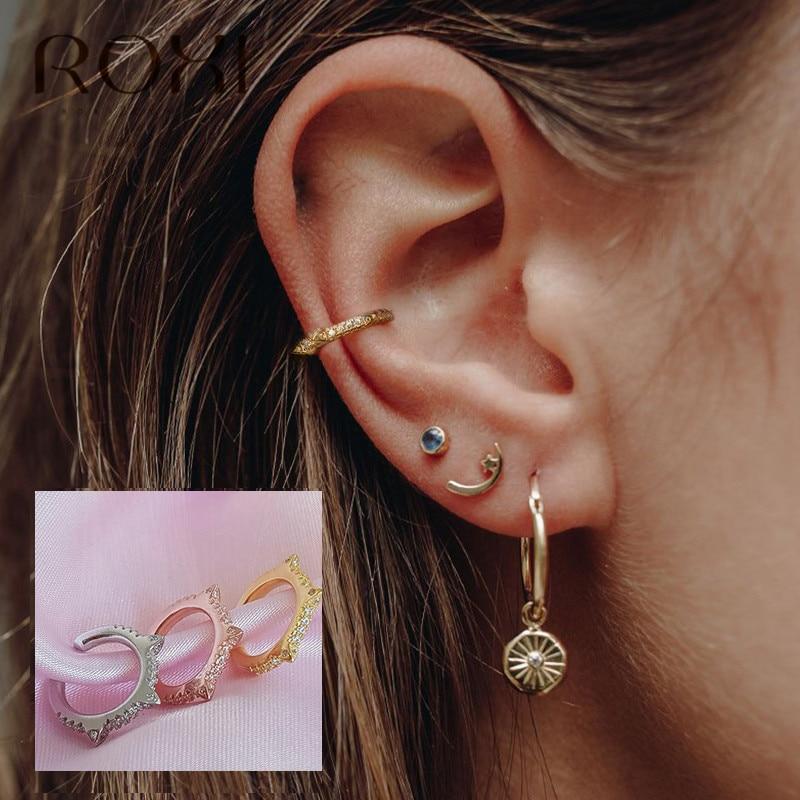 Ling Studs Earrings Hypoallergenic Cartilage Ear Piercing Simple Fashion Earrings Ear Jewelry 925 Silver Stars Long Tassel Earrings Earrings Gold Ear Clips