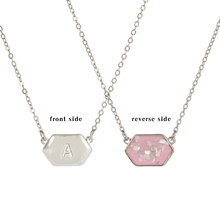 2019 new Initials 26 letter necklace A-Z alphabet pendant charm shell  crystal chain for women
