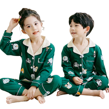 Autumn Winter Children 100% Cotton Pajamas Warm Sleepwear Girl Lounge Coral Loose Kids Baby Pyjama Set Boy Home