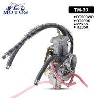 Sclmotos Mikuni TM 30 30mm Flat Slider Flachschieber Motorcycle Carburetor Carb Kit For Yamaha DT200WR DT200S RZ250 RZ350 ATV