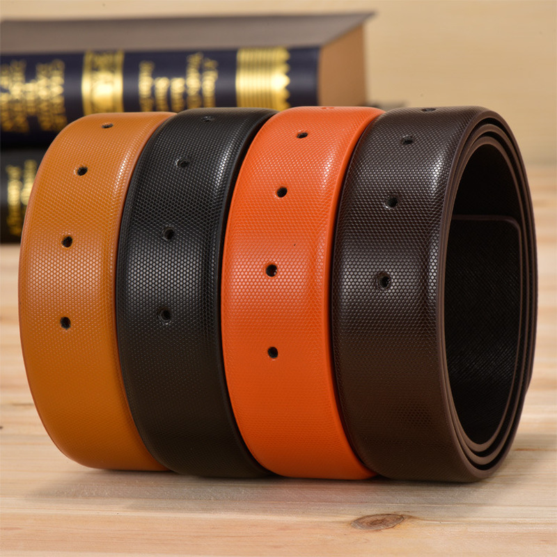 Red Designers Luxury Brand Belts For Men High Quality Women Male Strap Genuine Leather Waistband Ceinture Homme,No Buckle 3.3cm