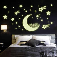 1pcs Fluorescent Luminous Wall Stickers DIY 4 Design Corridor Ceiling Stickers Home Decor Glow In The Dark Baby Kid Room Decal