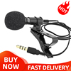 External 3.5mm Hands-Free Wired Lapel Clip Microphone Lavalier Microphone Tie For Smartphone PC Recording Speaker