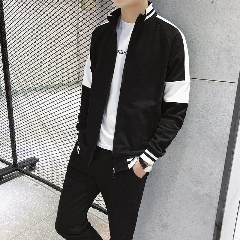 MEN'S Coat Leisure Suit Spring And Autumn Tops Autumn Korean-style Trend Sports Hooded Couples Hoodie