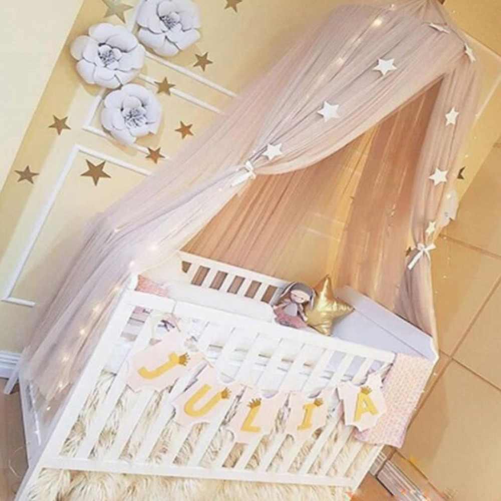 Été enfants enfants literie moustiquaire romantique bébé filles lit rond moustiquaire lit couverture lit auvent pour enfants pépinière
