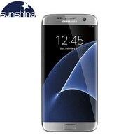 Оригинал, Galaxy S7 Edge, samsung, 4 Гб ОЗУ, 32 Гб ПЗУ, 5,5 дюймов, LTE, мобильный телефон, 12,0 МП, Android, четырехъядерный, разблокированный, сотовый телефон