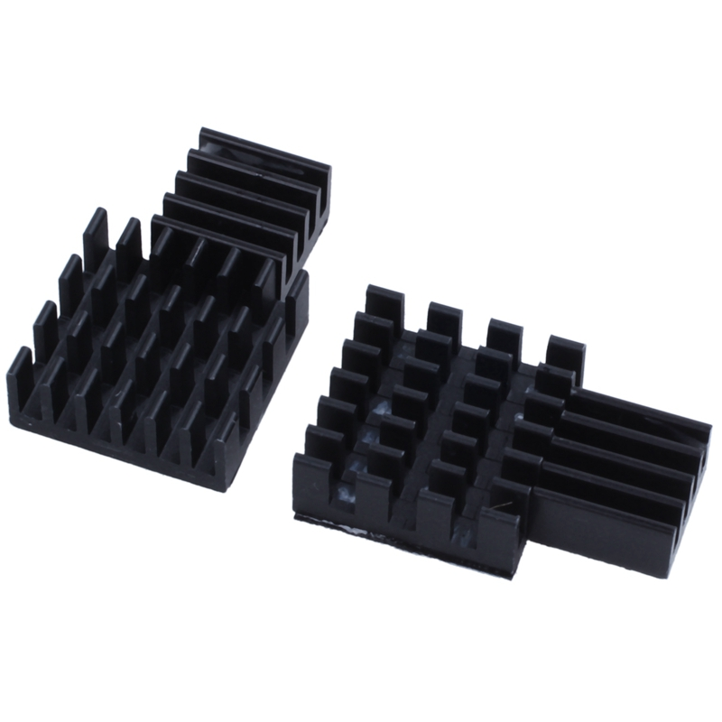 10Pcs Black Aluminum Heatsink Cooler Cooling Kit For Raspberry Pi 3,Pi 2,Pi Model B+
