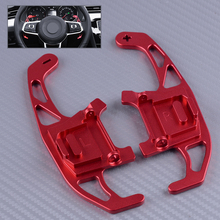 DWCX 2PCS Red Steering Wheel Shift Paddle DSG Extension Accessories Fit for VW Polo GTI Golf 7 MK7 Passat Variant Scirocco