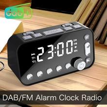 منبه رقمي DAB و FM ، راديو ، إضاءة خلفية ، شاشة LCD ، منفذ USB مزدوج ، مؤقت نوم ، للمكتب ، غرفة النوم ، السفر