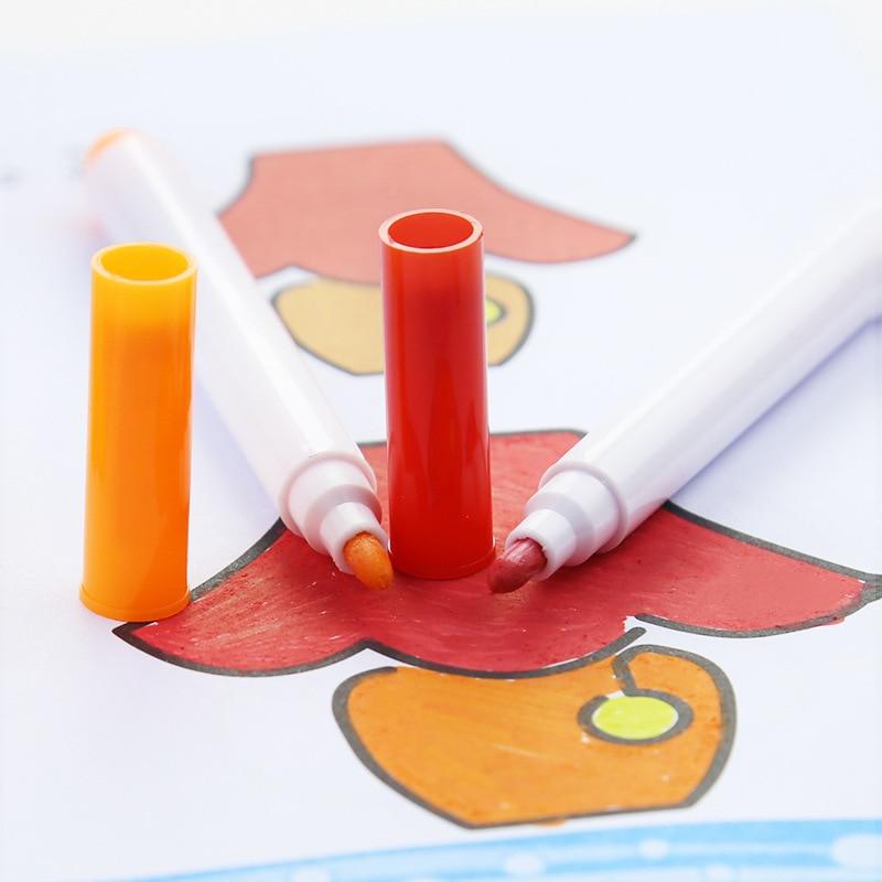 12 Pcs/set Different Colors Water-soluble Liquid Chalk Children's Drawing Pen Non-dust Board Chalk Marker Office School Supplies 2