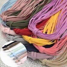 10/50yad 5mm colorido náilon elástico banda oca plana correias de orelha elástica corda diy máscara pendurado orelha borracha cabo costura acessórios