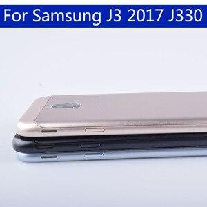 Image 4 - Originele Voor Samsung Galaxy J3 2017 J330 J330F SM J330F Behuizing Batterij Cover Back Cover Case Deur Achter Chassis Shell
