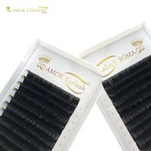 QD AMOR 3 cases/lot 16lines fake mink eyelashes extension  individual false