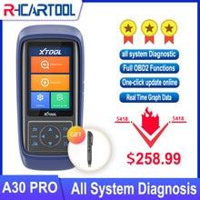 XTOOL A30PRO OBD2 cały System samochodów profesjonalne narzędzie diagnostyczne atomitive skaner kodów ABS Airbag SRS DPF KO CRP429C MK808 MD806