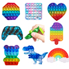 Push Pops System Its Bubble Strawberry Rainbow Color Fidget Toys Autism Special Needs Sensory Anti-stress Relief Toy Kids Toys