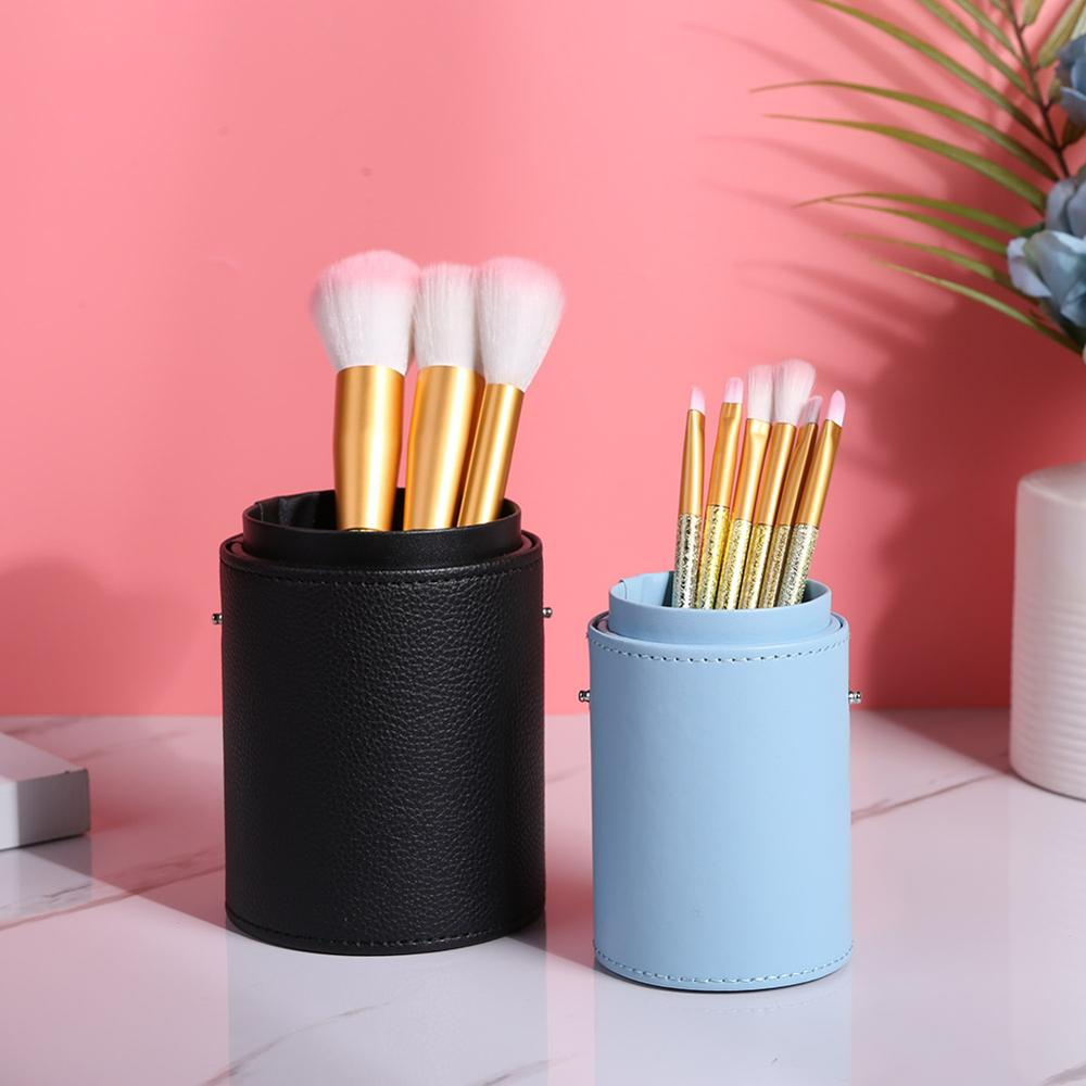 Fashion Makeup Brushes Holder Case PU Leather Travel Pen Holder Storage Cosmetic Brush Bag Brushes Organizer Make Up Tools